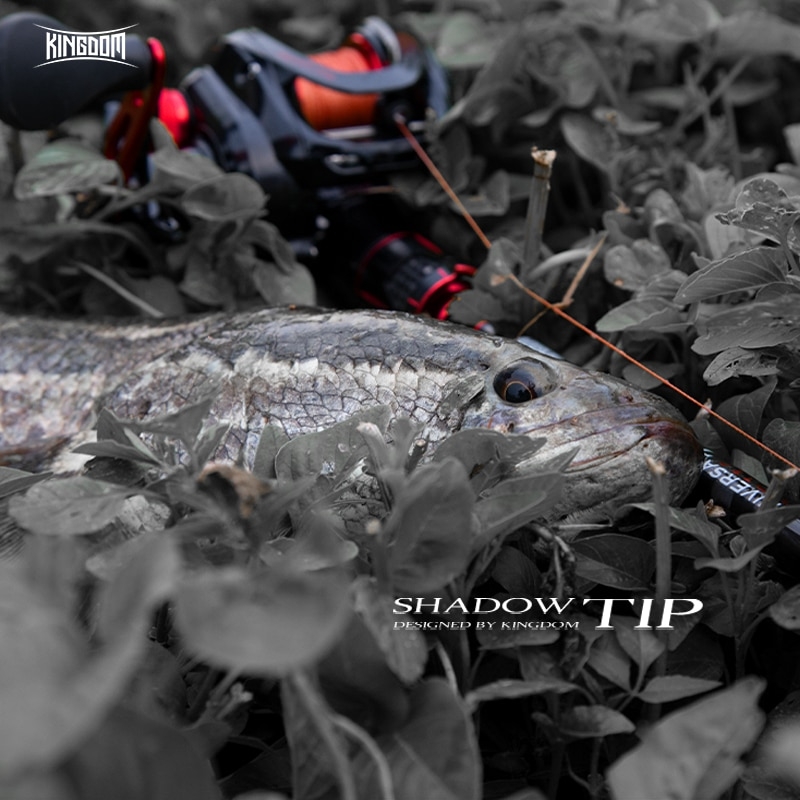 Kingdom SHADOW-TIP Baitcasting Rod Combo Fishing rods New 2.1m 2.4m two Top Tip 2 Section Carbon Fiber Rod Bait Casting reel Set enlarge
