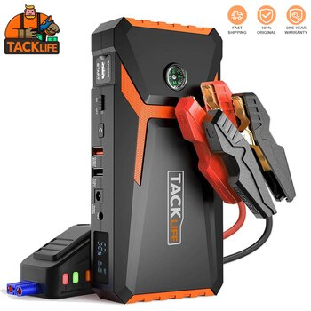 TACKLIFE T8 18000mAh Car Jump Starter Power Bank 12V 800A Auto Starting Device Emergency Starter Battery for Car Dual USB Ports