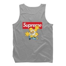 I Simpson Suprema Grigio Askılı T-Shirt Canottiera