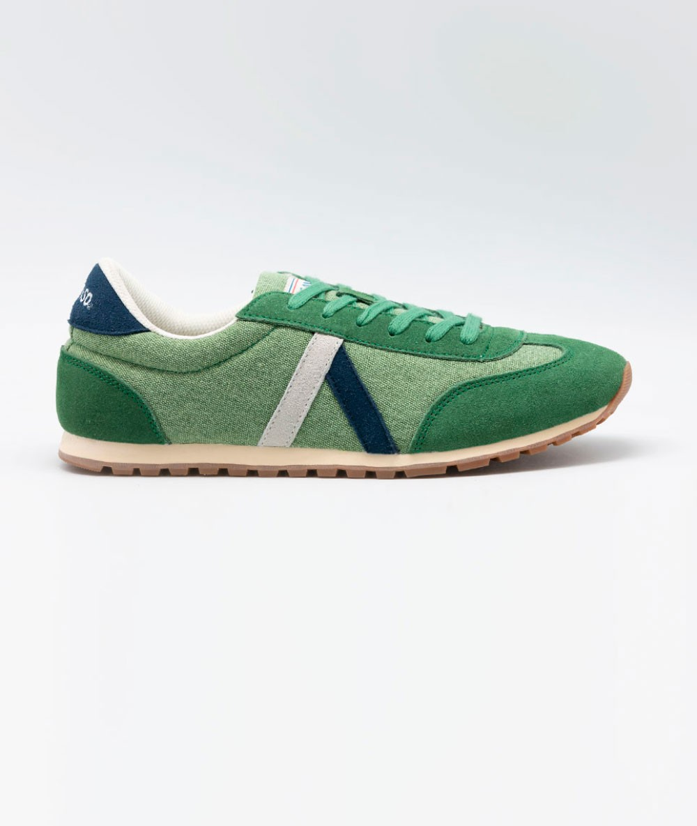 Sneaker Goose®Running Wash Green Original Brand Mens Vintage retro Gentleman