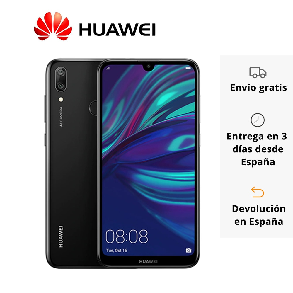 "HUAWEI Y7 Smartphone 6,26 ""720p kamera 13Mp Selfie Toning system Flash Android 8,0 Qualcomm Octa-Core 3 + 32GB Dual Nano 4000mAh"