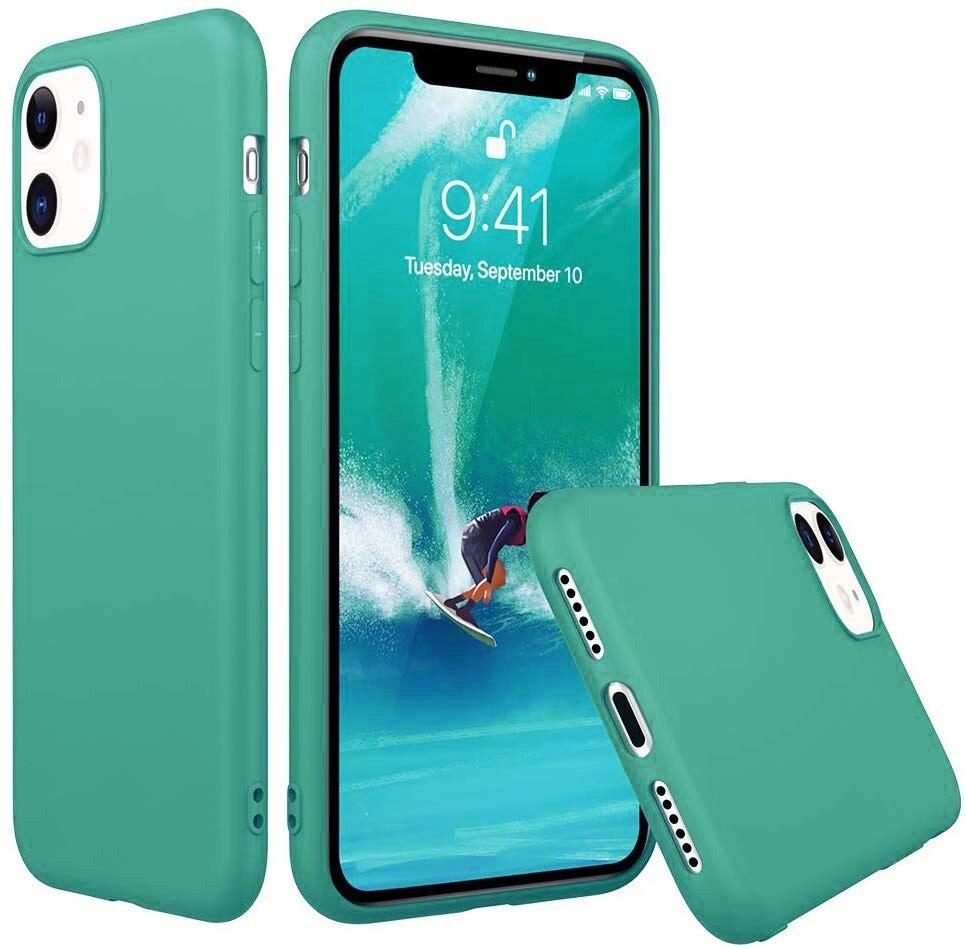 Funda Goma Pastel para Apple Iphone SE 2020 / 7 / 8 Turquesa