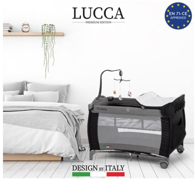 Lucca Foldable Baby Crib And Playpen With Portable Musical Rattles Toys And Baby Diaper Changing Unit 2 Floors Baby Cradle Lit Bed Soft Play Indoor Kids Fence Baby Furniture Ball Pit Swing Bouncers Carrier Boys Girls enlarge