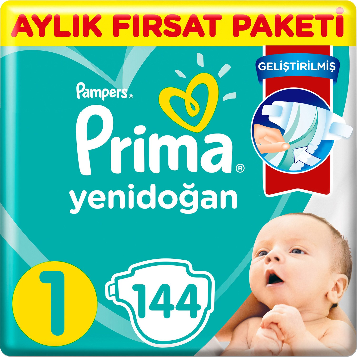 Prima Active Baby Diapers Size 5 116 Junior Monthly Advantage Package
