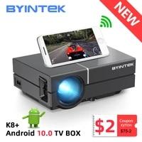BYINTEK     Mini Portable K8 1080P 150 pouces  cinema maison numerique LCD  pour cinema 3D 4K  boite TV Android 10 en option