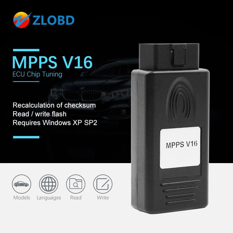 ZOLIZDA MPPS V16 2019 A + + + con Chip ECU de calidad MPPS V16 para EDC15 EDC16 CHECKSUM excelentes MPPS envío rápido