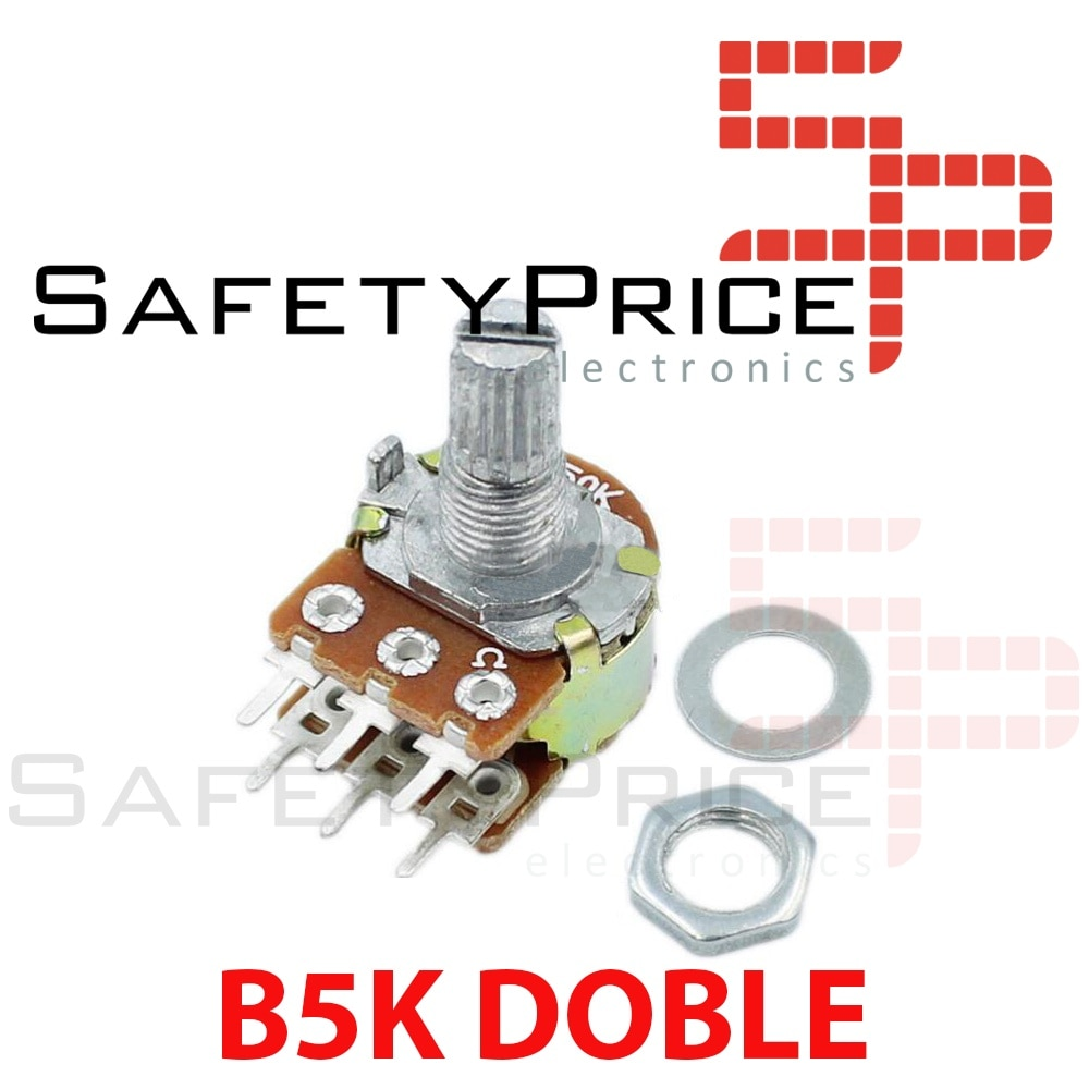 Potenciômetro dobro linear b5k 5k ohm kΩ-potenciômetro duplo linear 5k