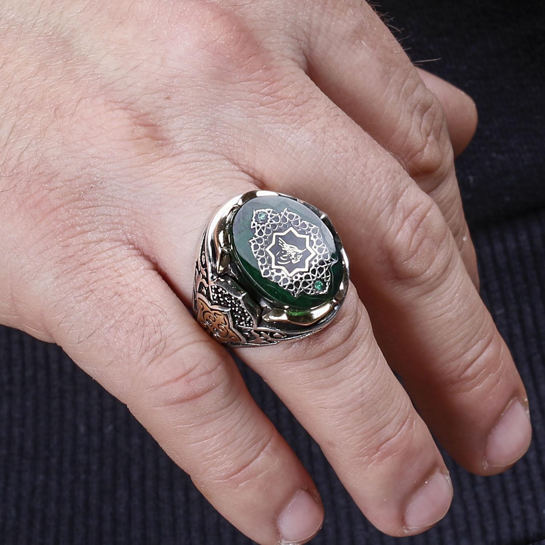 ALA Series | العثماني توجرا تصميم خاتم فضة موضة التركية قسط الجودة اليدوية Jawelery