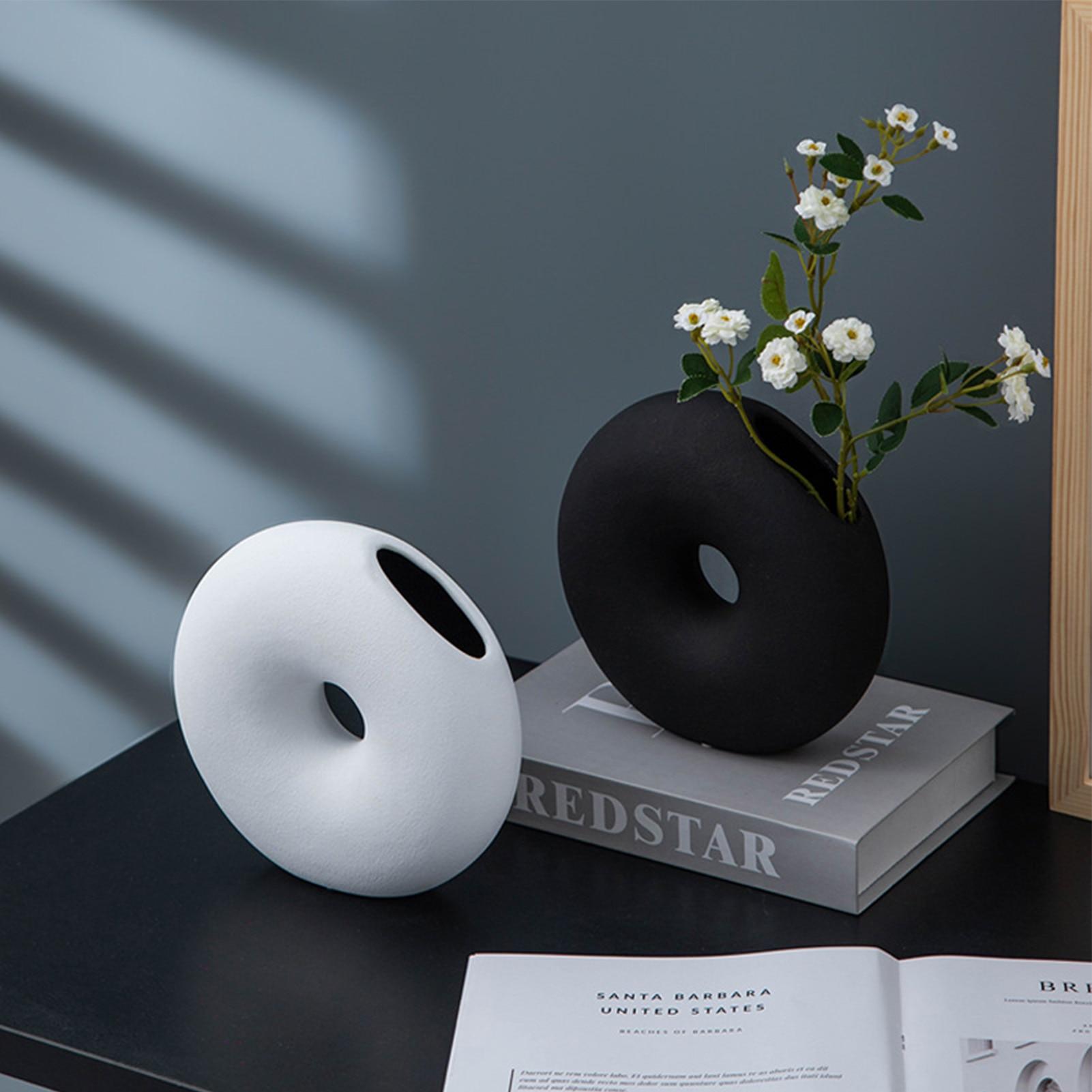 AliExpress - Modern Classic Ceramic Vase Black White Creative Home Decoration Flower Arrangement Container Tabletop Vase