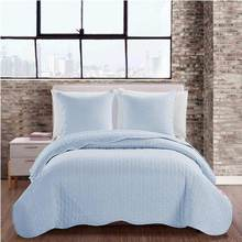Bedspread Bouti Reversionary 180x270 cm 스트라이프 천국과 흰색. 침대 90 및 105. 여름 퀼트. KODAC 셀레스트