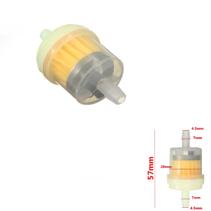 Filtro de gasolina manual para motocicleta ciclomotor gokart quad filtro gás gerador gasolina