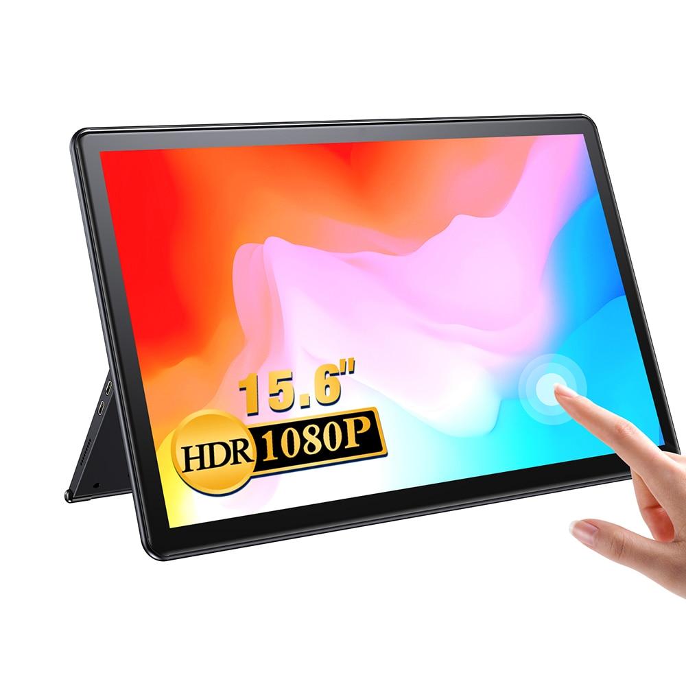 【New】 UPERFECT-15.6 '1080P شاشة تعمل باللمس المحمولة بالإضافة إلى المنزلق Sencond عرض لماك PS4 Xbox التبديل ، الهاتف المحمول ، والكمبيوتر ،