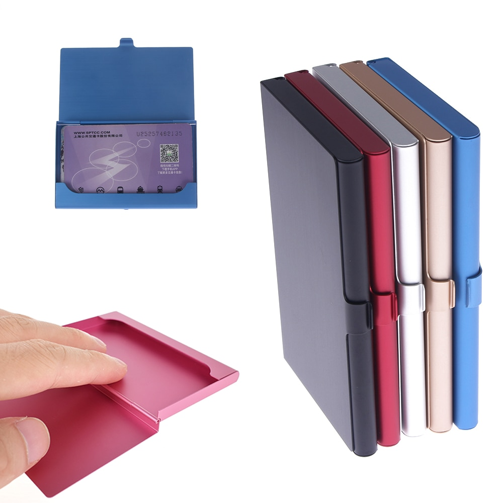 Creative Business Card Case Stainless Steel Aluminum Metal Box Credit ID Wallet Card Holder 1PCS