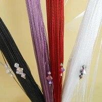 zidetang sparkle beaded string door curtain deco fringe tassel room divider curtain panel thread window fly screen