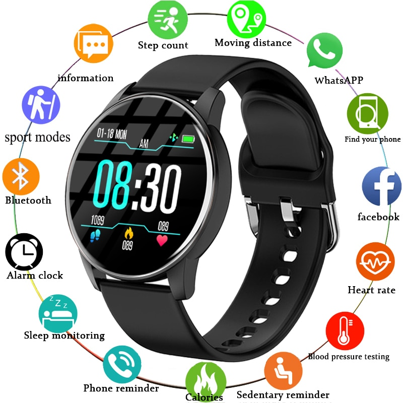 Men Smart Watch Real-time Weather Forecast Activity Tracker Heart Rate Monitor Sports Ladies Smartwa