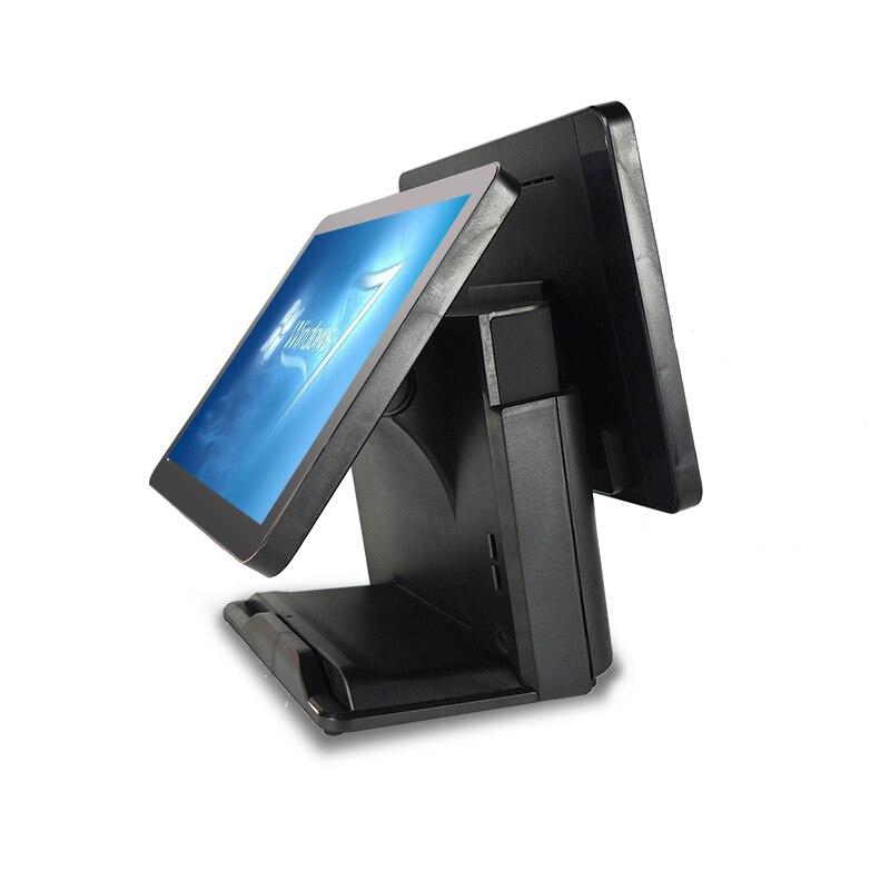 Alloxb-نظام نقاط البيع للسوبر ماركت ، شاشة تعمل باللمس مزدوجة السعة 15 15 سنًا ، محطة ومحطة