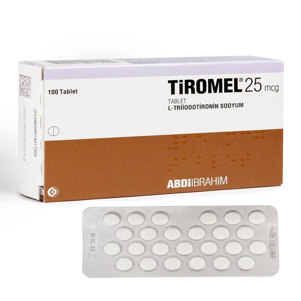 Tiromel 25mg 100 tablets T3 hormone Bodybuilding fitness fit sports supplements For men For Women