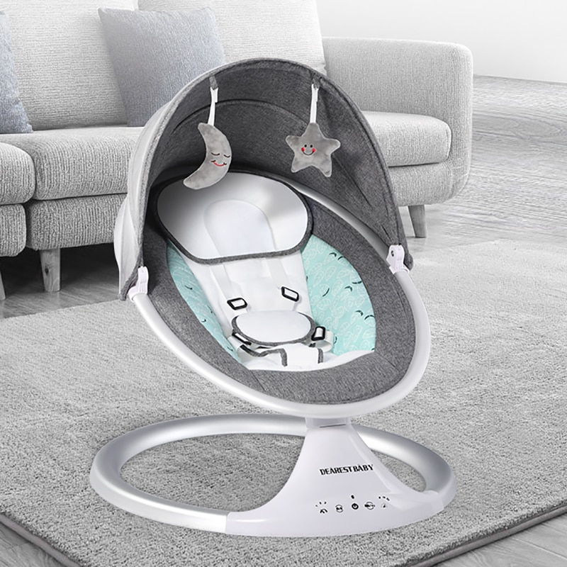 0-6 Months Old Newborn Electric Rocking Chair With Bluetooth Remote Control Liberating Mother's Hands