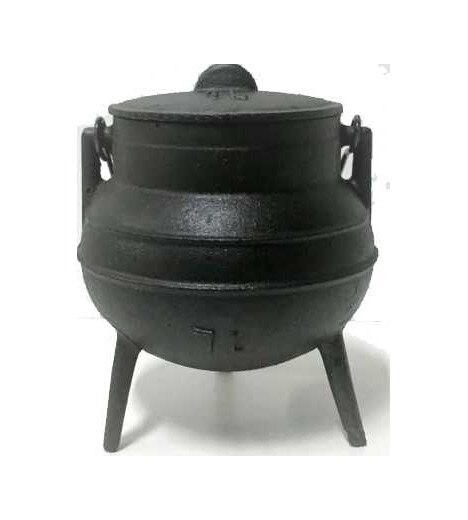 CALDERO de hierro 2 Lts. 12 cm de boca, 21 cm de alto SANTERIA (WICCA)