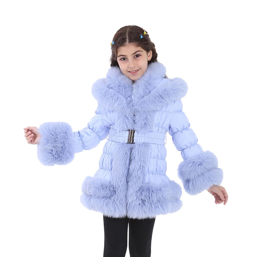 Children Fur Coat MODAQUEEN Kids Orylag pelage Coat 2378 Girls Jackets and Coats Rabbit Fur
