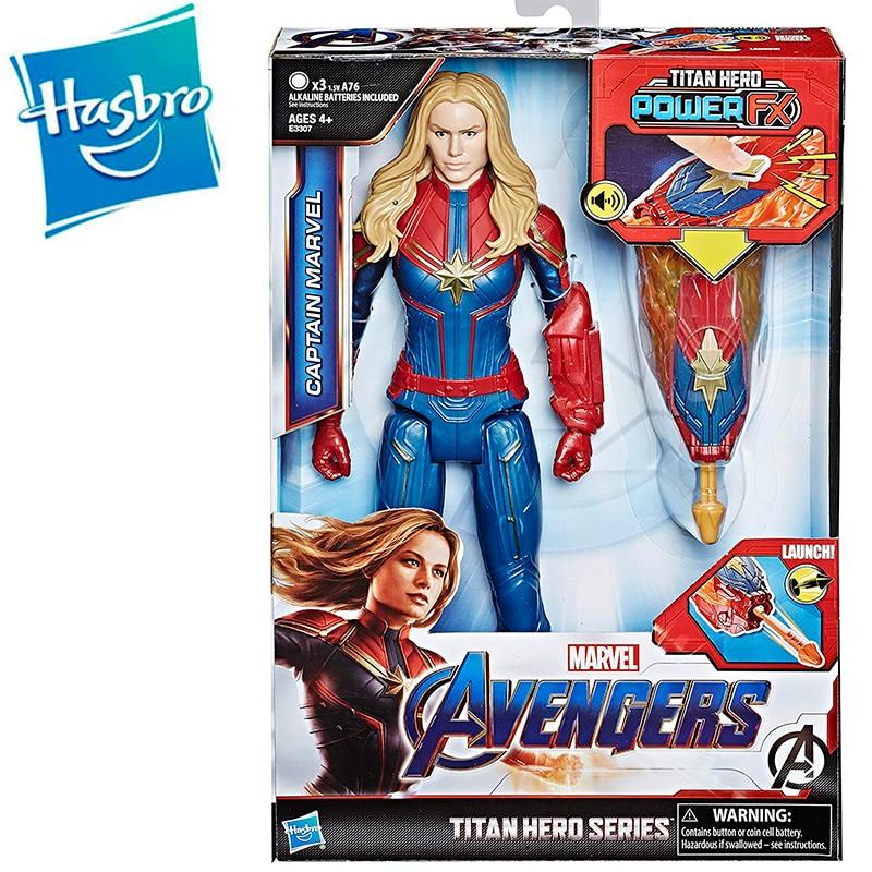 Avengers Juguete Héroe Titan Hero Fx Capitana Marvel 30 cm con activar Sonidos y Lanzador Avengers Marvel Hasbro E3307EW0