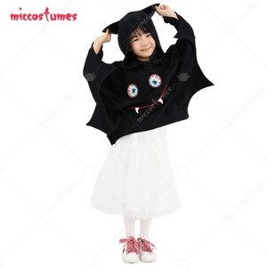 Halloween Bat Girl Costume Hooded Cloak for Kids