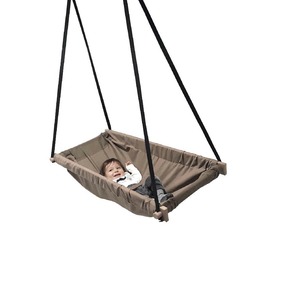 Wooden Spring Baby Hammock Bed Baby Cribs Cotton Fabric Hoppala Swing Kids Room Set New Born Kids Room Wholesale enlarge