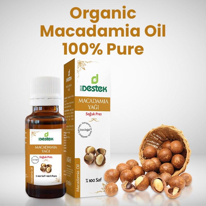 Масло макадамии 100% чисто органическое, 20 мл, турецкие растительные масла, эфирные масла, натуральные масла для ароматерапии, натуральные ра...