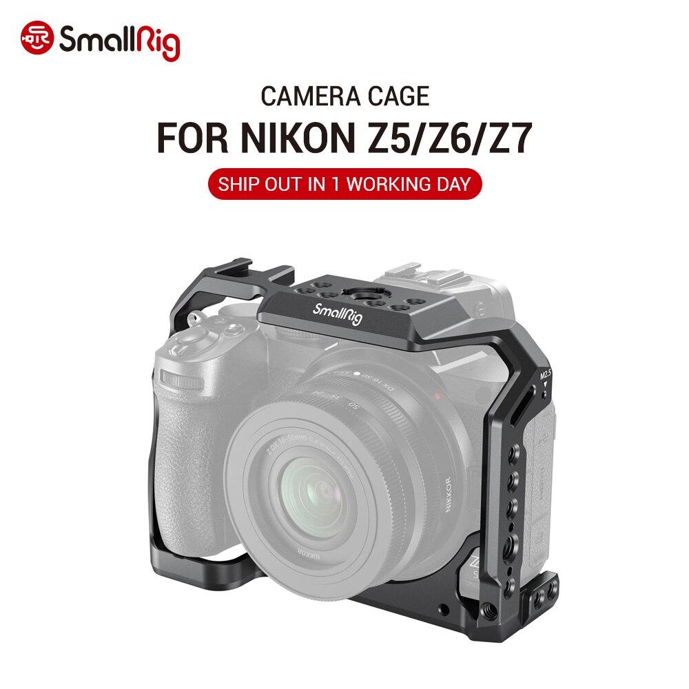 SmallRig carcasa de camara Dslr para cámara Nikon Z5/Z6/Z7 con zapata fría y cámara NATO Rail Rig soporte de vídeo accesorios montajes 2972
