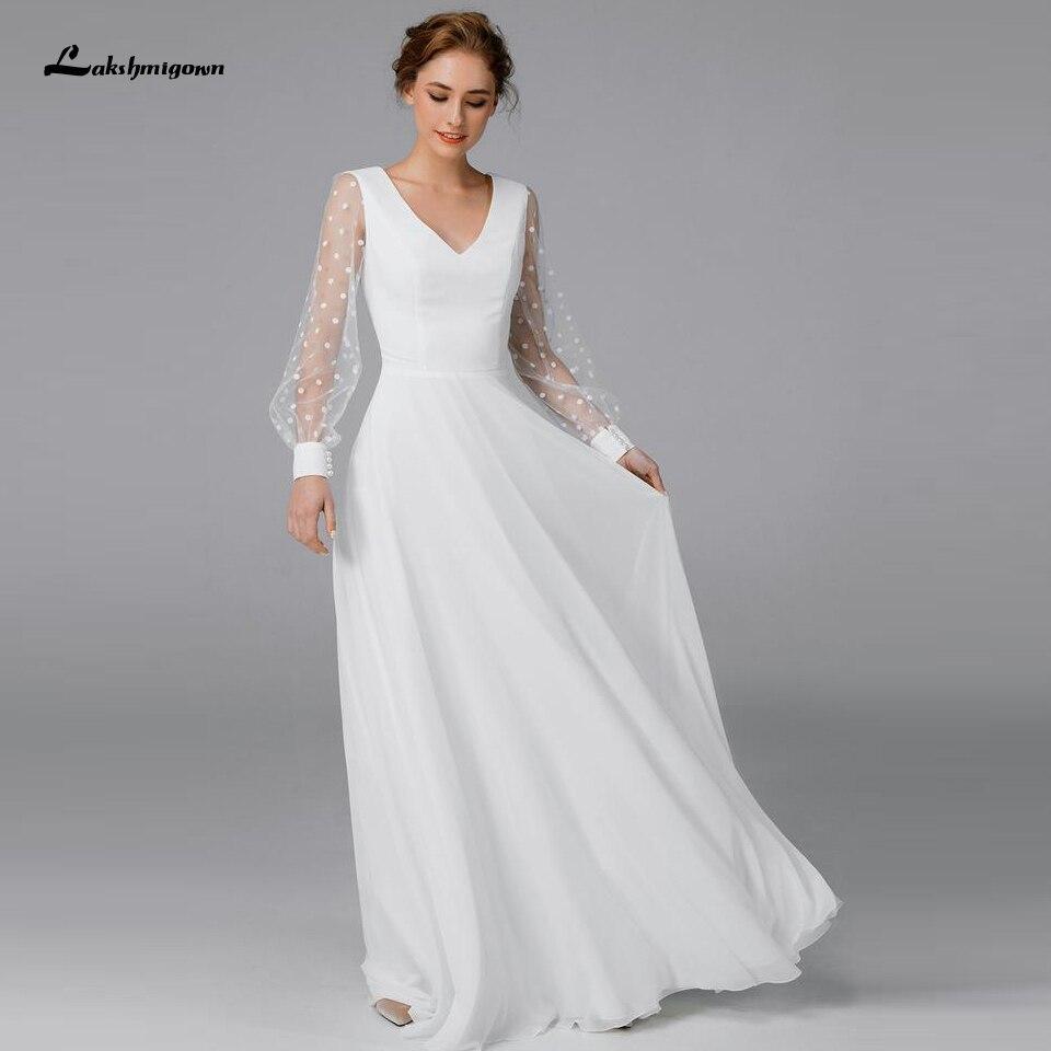 Vestidos de princesa de manga larga de gasa para boda, Vestido de...