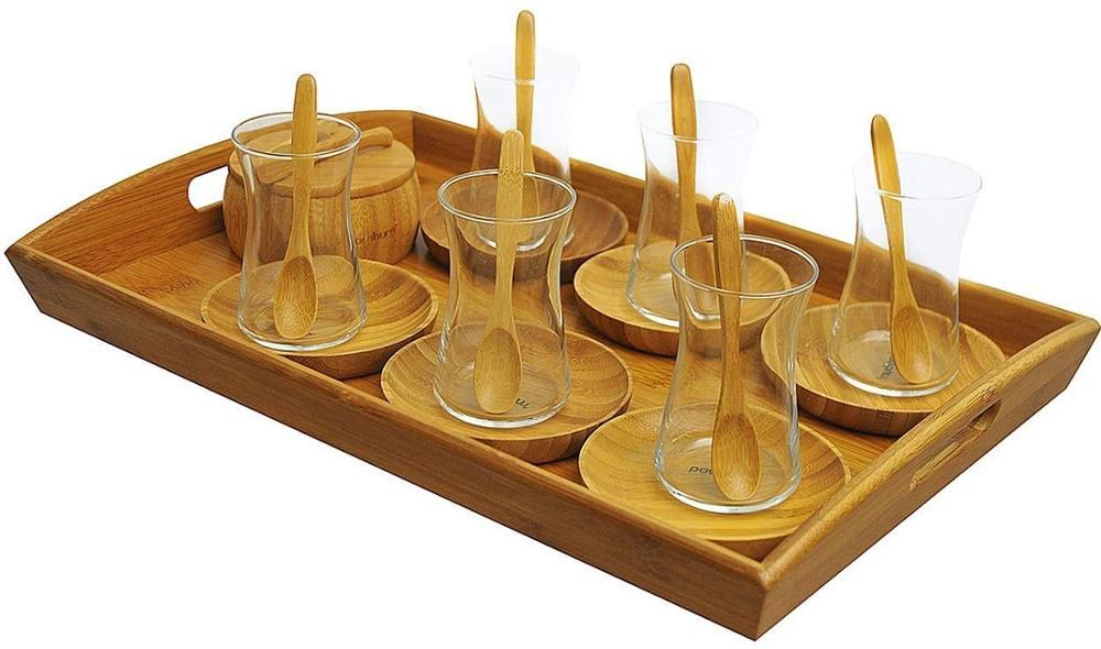 Bambum-طقم شاي B2367 Gala ، 22 قطعة ، بني
