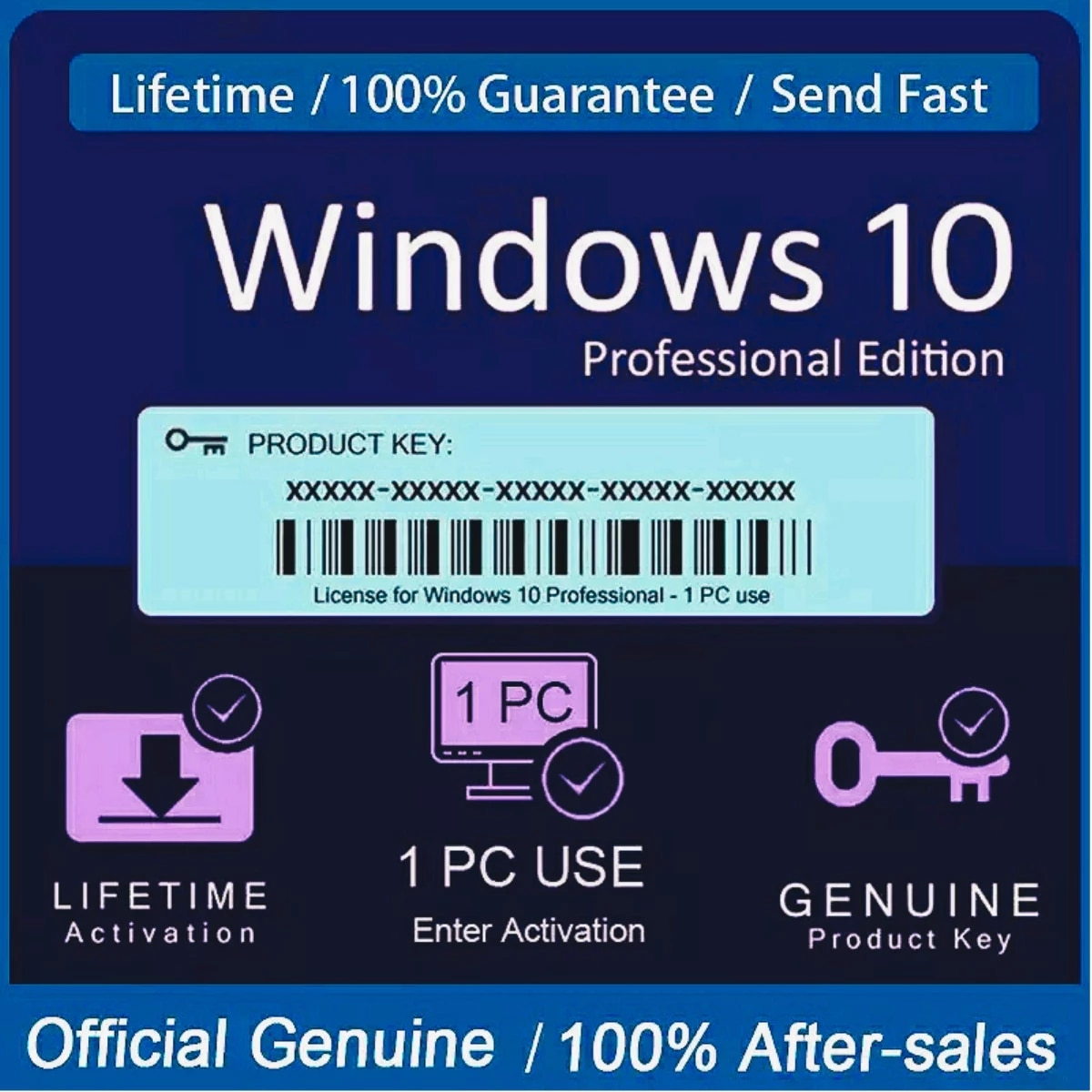 Windows-10 Pro Key Globally Activation For Lifetime✔️️