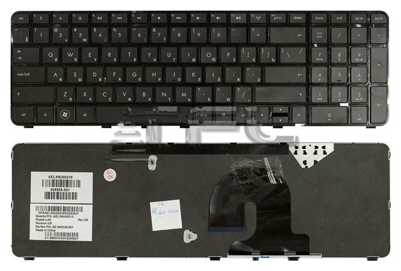 Teclado para ordenador portátil HP Pavilion dv7-4000 con marco negro