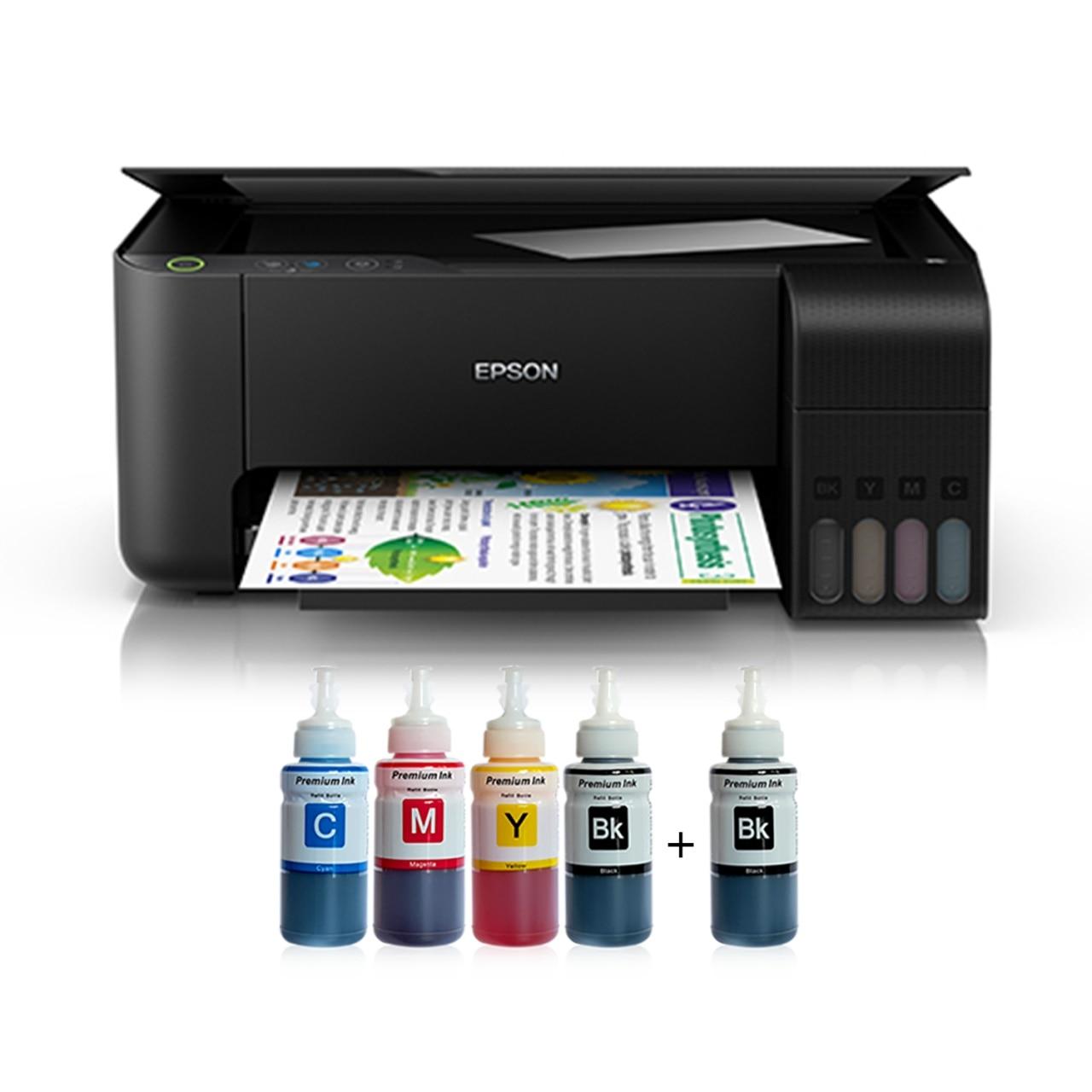 Epson Tank L3150, impresora de tinta fotográfica, Cartucho de terminación de 4 colores (2 regalos de tinta negra) epson L3050 en lugar de modo de salida