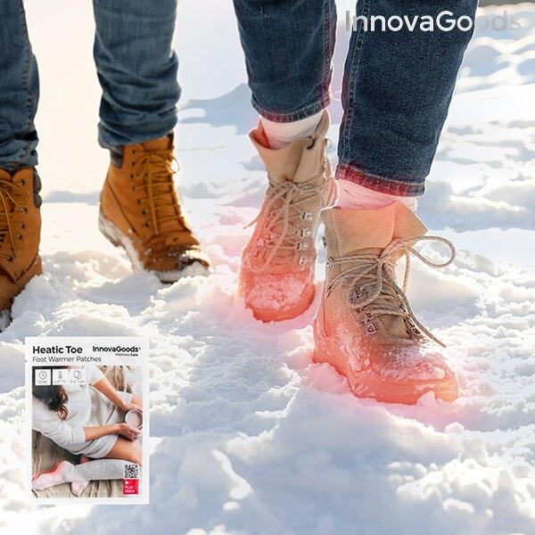 Parches Calentadores de Pies Heatic Toe InnovaGoods (Pack de 10)