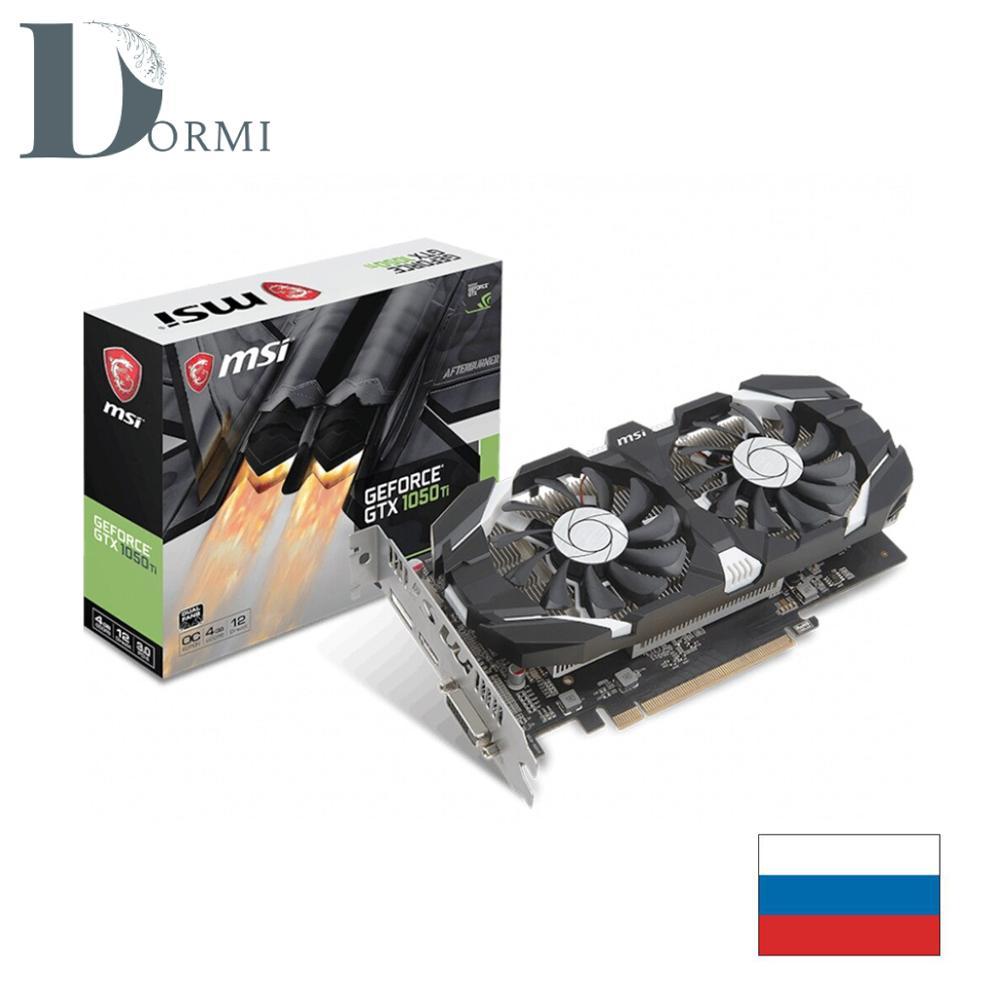 MSI tarjeta de vídeo Nvidia GeForce GTX 1050 Ti 1455MHz 4096MB 7008MHz 128 poco RTL [GTX 1050 Ti 4GT OC] DDR5 utilizado