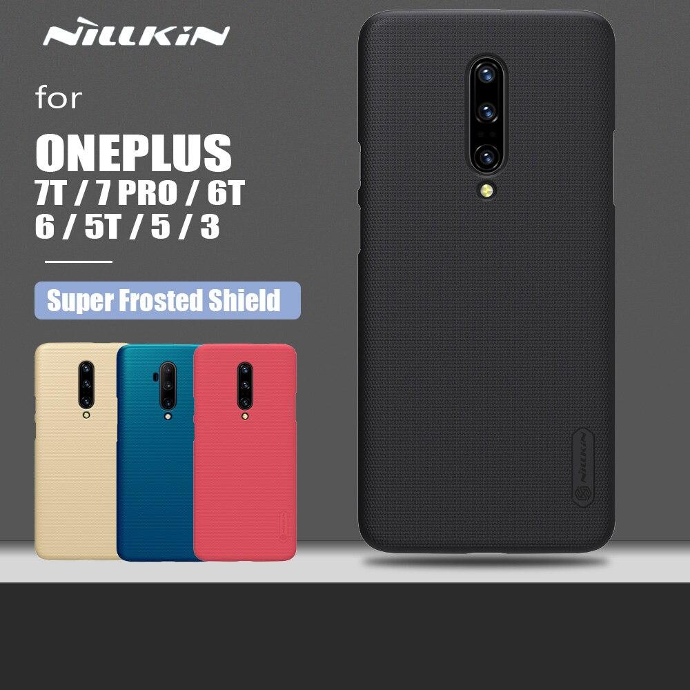 Nillkin – coque de protection Ultra-mince pour Oneplus 7T, 7 Pro, 6T, 6, 5T, 5, 3, Super givrée