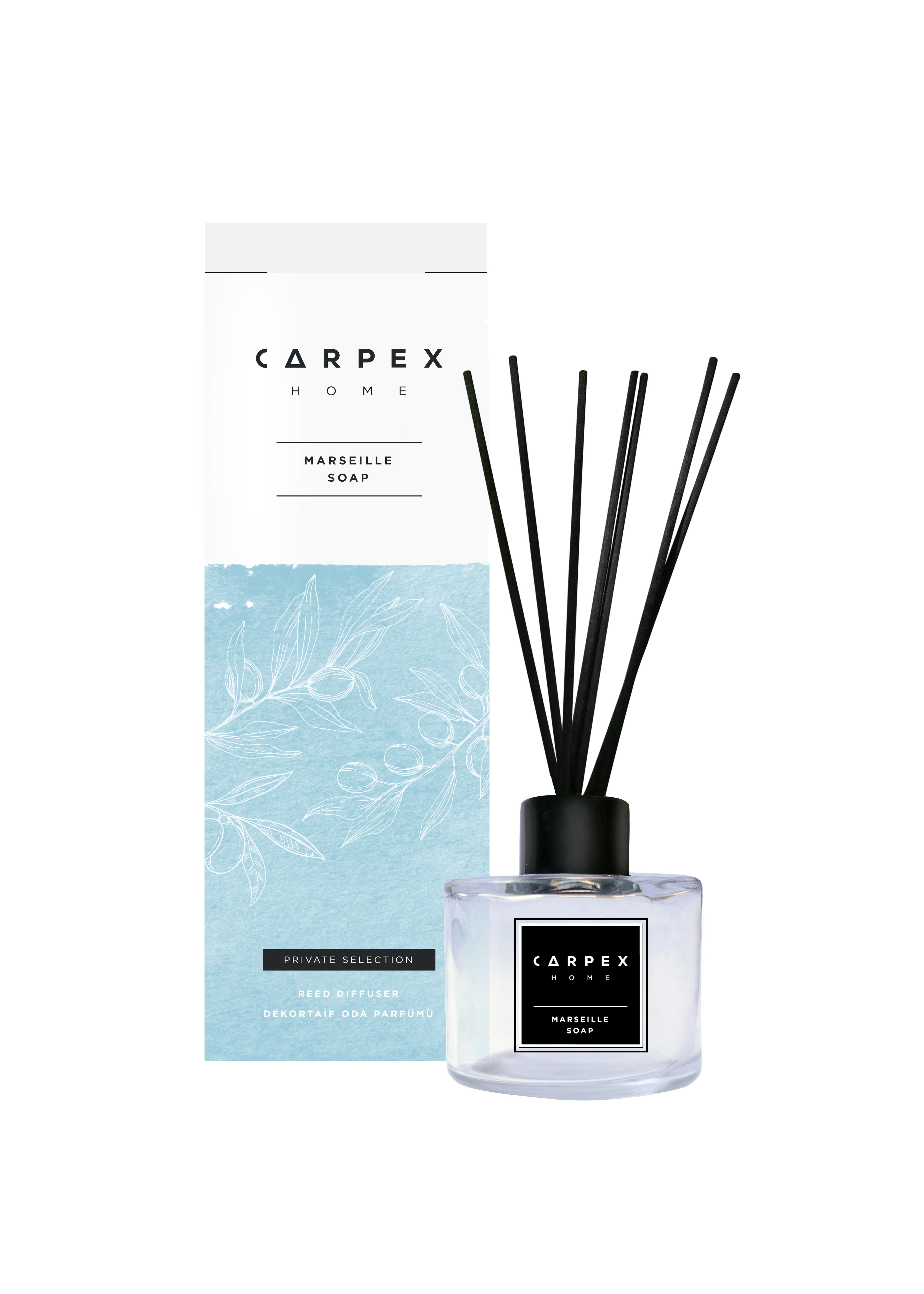 Carpex palo de bambú casa habitación Oficina aroma de jabón de Marsella de 100 ml