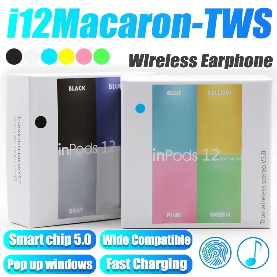 I12 TWS inalámbrica auriculares Touch clave Bluetooth deporte auriculares estéreo para iPhone Xiaomi Huawei Samsung Smartphone auricular