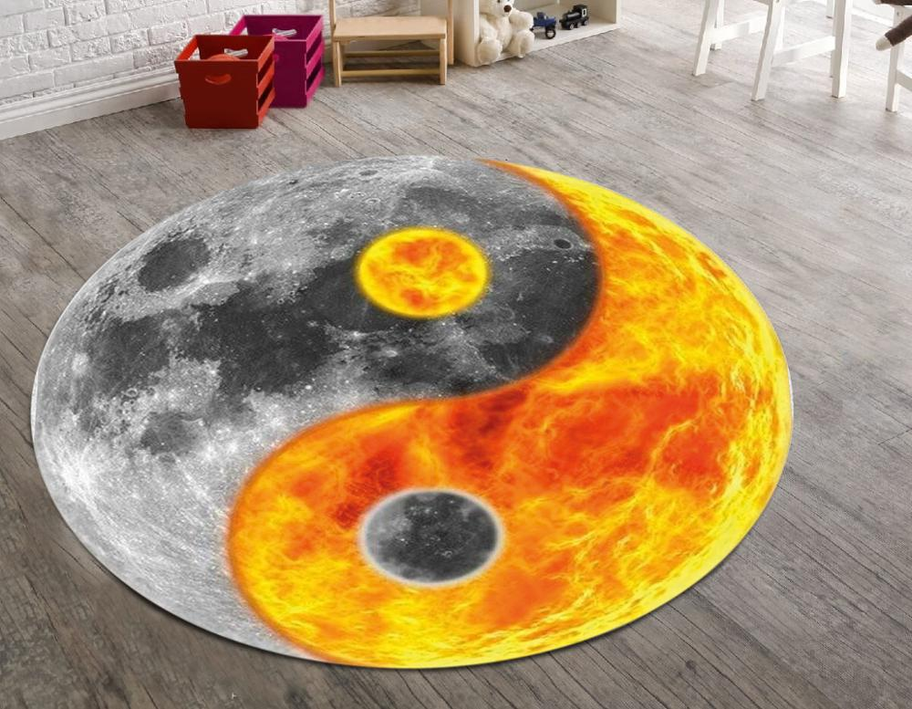 سجادة أرضية حديثة غير قابلة للانزلاق من Ying Yang World