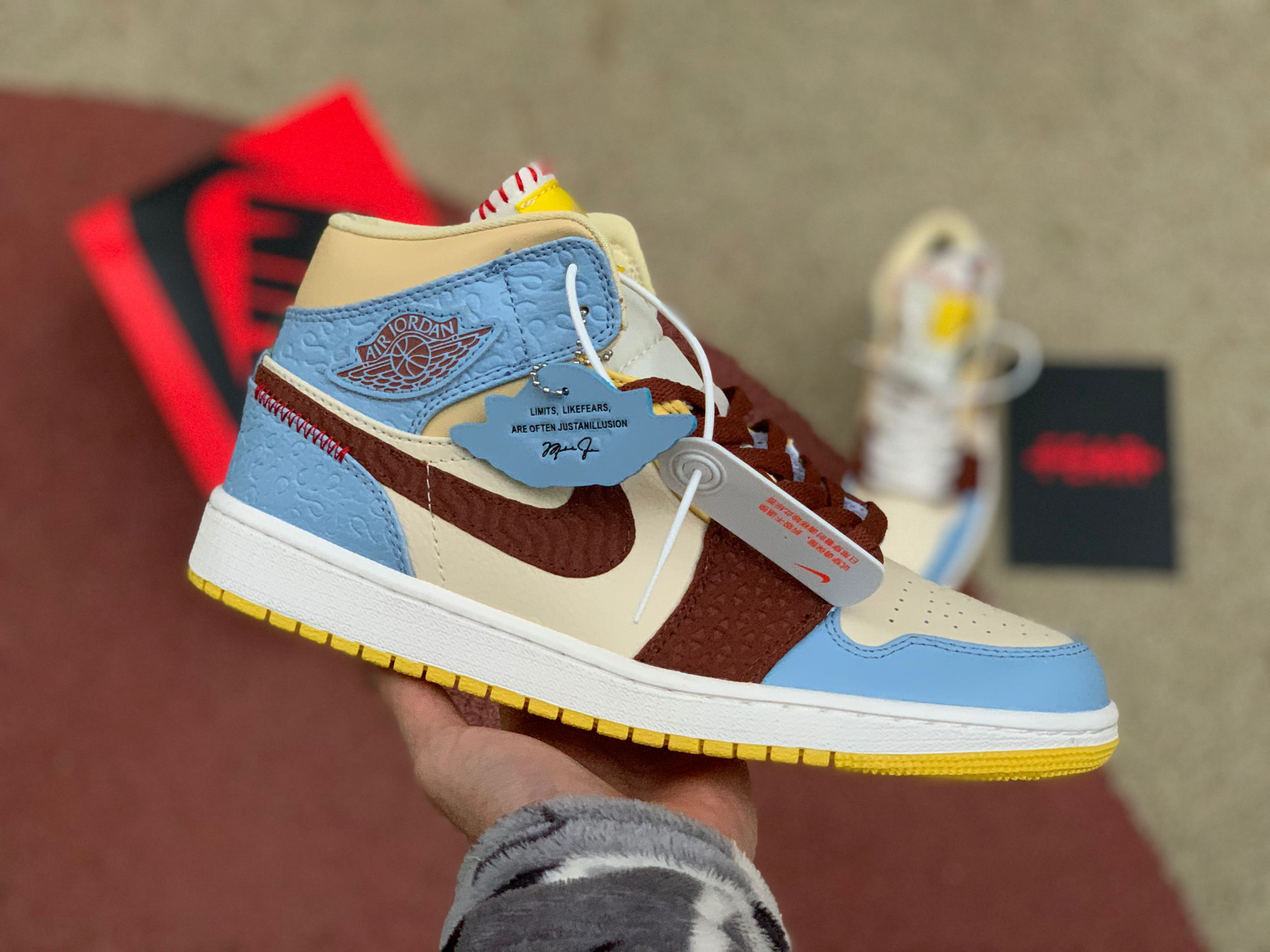 Zapatos de baloncesto aj1mid estilo africano Air Jordan 1 Mid Fearless Maison estilo africano talla CU2803-200 36-46
