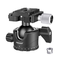 neewer professional 35mm low profile ball head 360 degree rotatable tripod head14 inch qr plate bubble level for dslr cameras