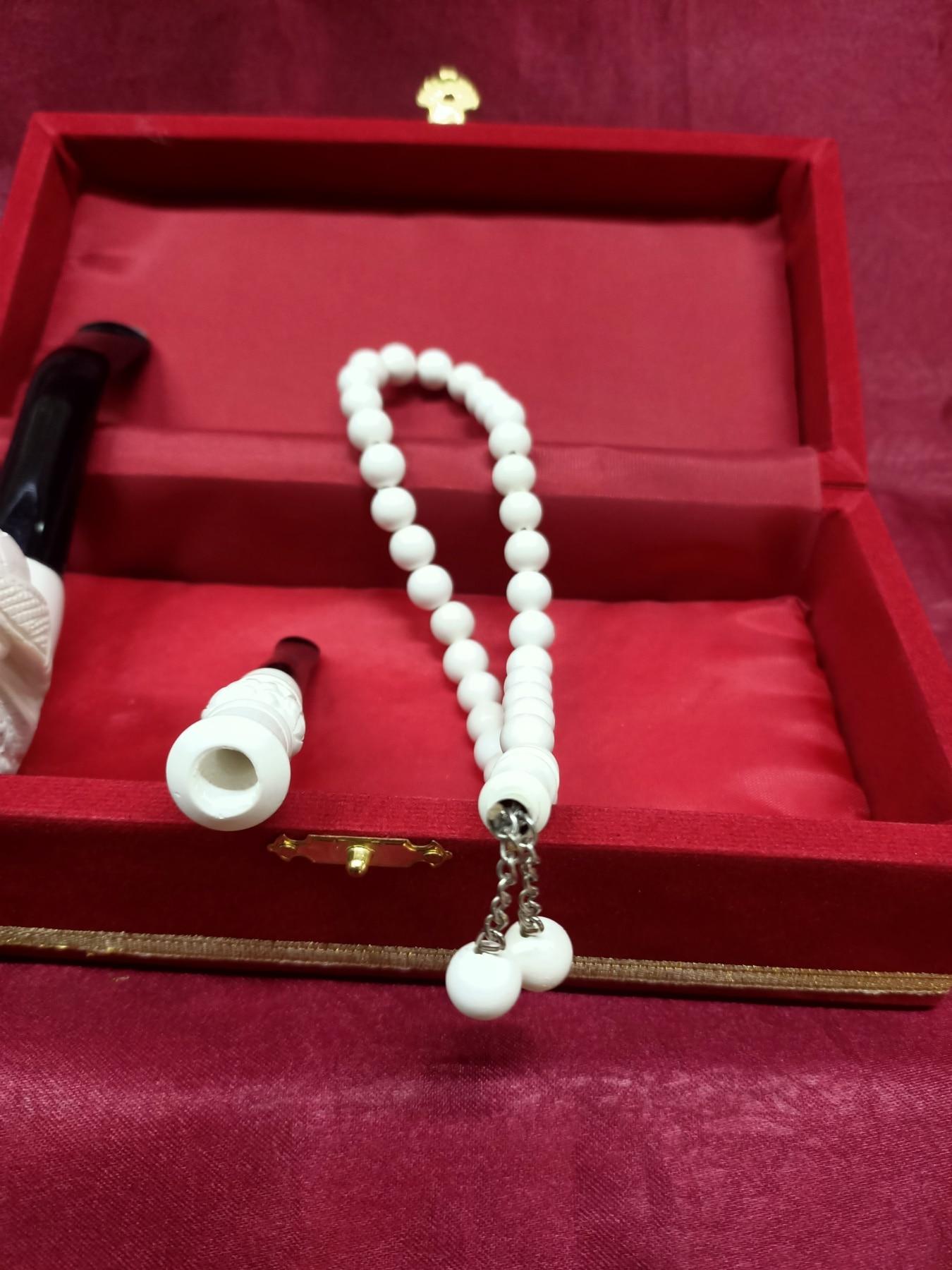 High Quality Meerschaum Set Master Made Smoking Tobacco Pipe New Cigar Sepiolite Best Gift for Friend Eskisehir made in Turkey enlarge