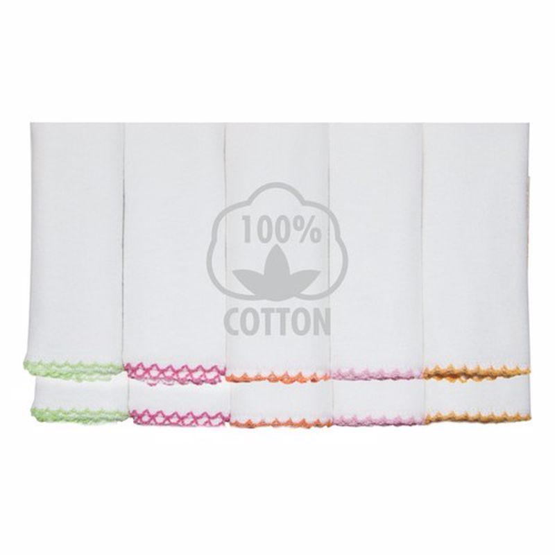 10 pcs 100% cotton multi-purpose baby wipes mouth 22x22 size Drool towel teething bib çin'de made turkey