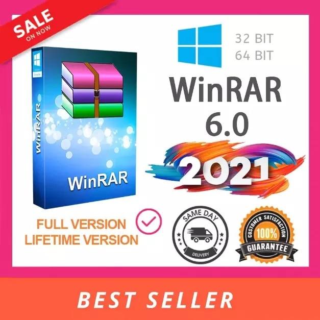 WinRAR 6 Pro ufficiale per Win 2021 bit ultima versione 100% - 1 chiave per 1 PC-licenza a vita