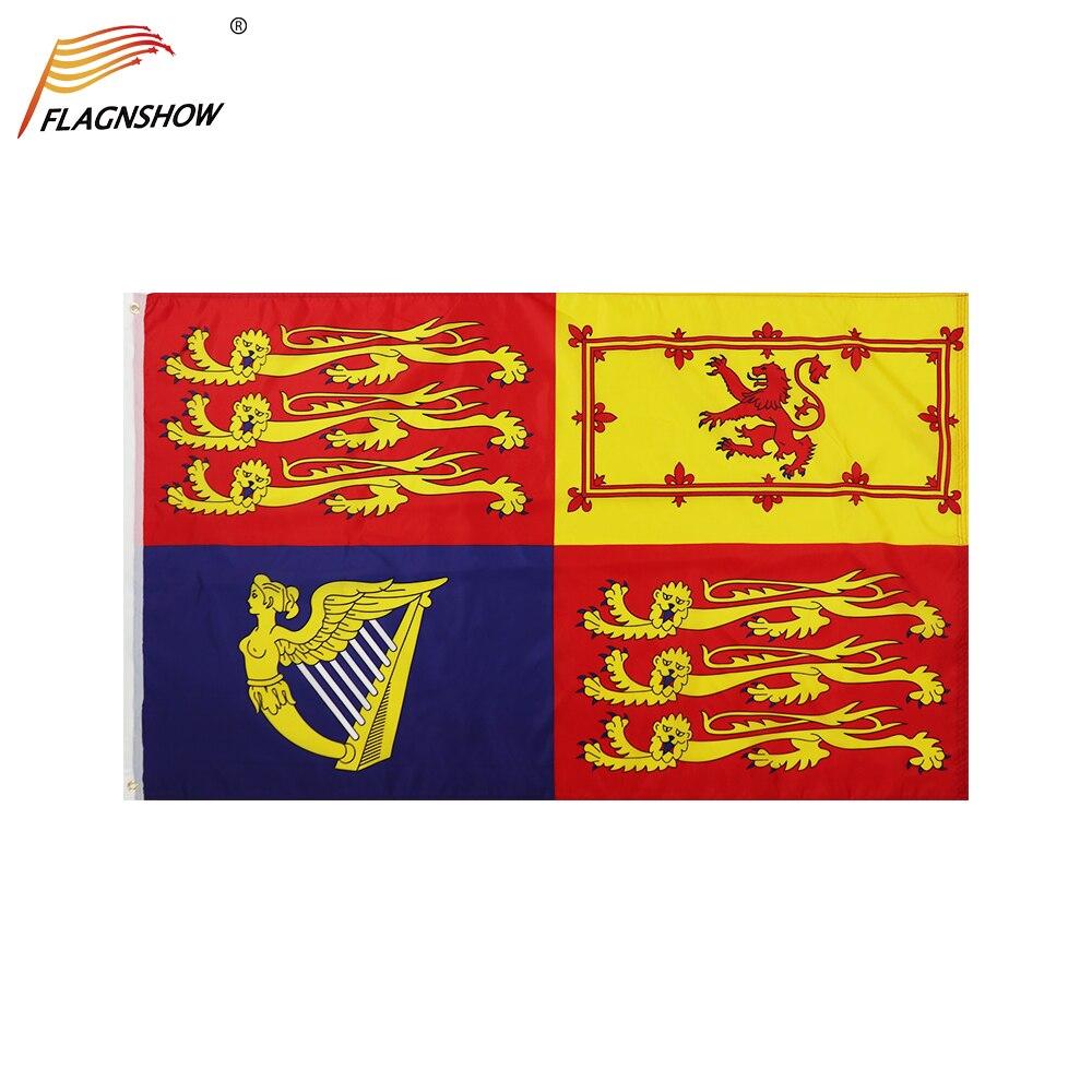 Флаги королевы в реестре FLAGNSHOW 3x5 футов флаги королевских стандартов Великобритании