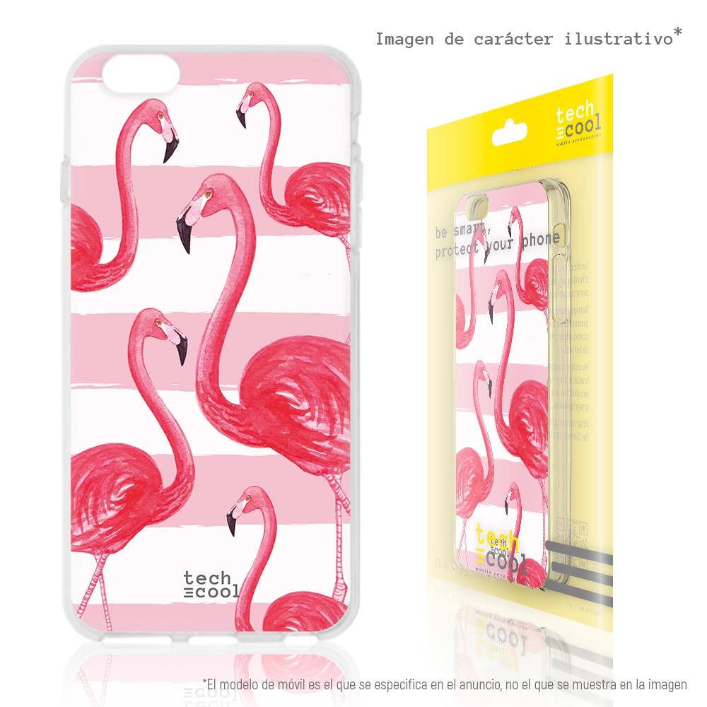 FunnyTech®Silikon Fall für Samsung Galaxy A50 l flamingos aquarell vers.2
