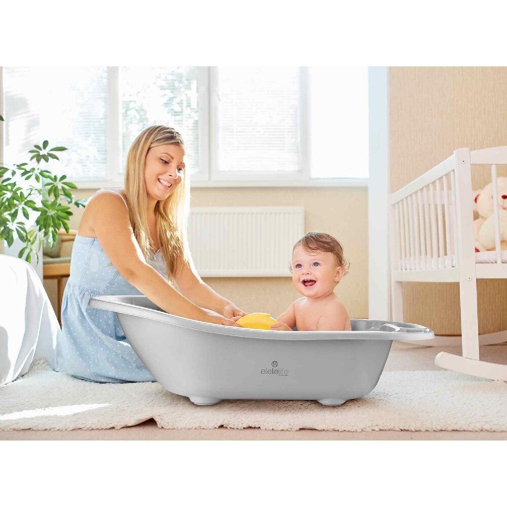 Luxury 6 Pieces Baby Bath Set with Drain and Bathtub Set Baby Newborn Shower Potty Bath Tub Baby Products Bath Seat Shower enlarge