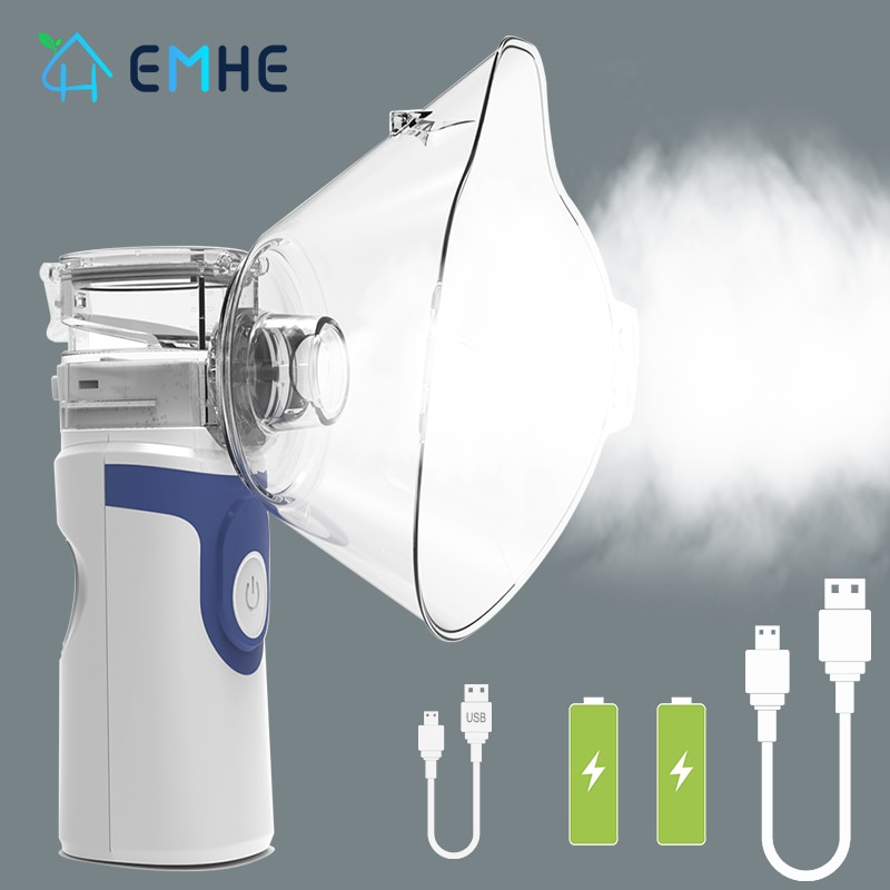 Handheld Medical Nebulizer Inhaler Health Care For Kids Adult Portable Silent Mesh Nebulizer Autocle