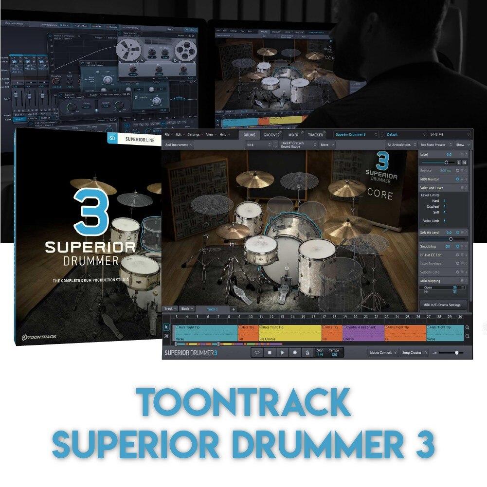 SUPERIOR DRUMMER 3 - TOONTRACK (WINDOWS 64BIT VSTi)